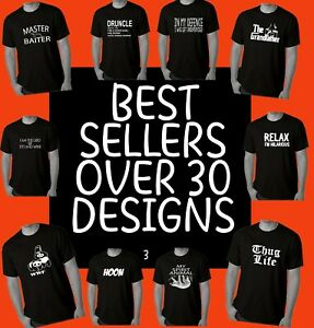 Funny T shirts Best SELLERS Men's Mens Black  t shirt slogan fun joke tee 👀😜