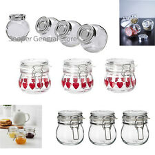 Mason Small Glass Jars Spice Herb Jam Bottles Mason Clip Top Airtight Mini