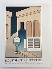 """David Goines #59 """"Bookshop Santa Cruz"""" 1976"""