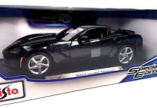 Maisto 2014 Corvette Stingray C7 Custom Black 1:18 Metal Die Cast New In Box NIB