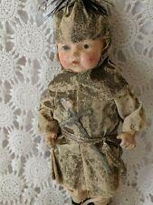 """Bisque Sir Lance A Lot Boy Doll Vintage Antique Unique 12"""""""