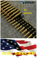 "❶❶1/6 scale 7.62 caliber(50PCS) metal machine bullet chain For 12"" figure USA❶❶"
