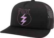 FOX RACING LADIES GIRLS CAP REPENTED BLACK MOTOCROSS SKATE SNAPBACK ROUND PEAK
