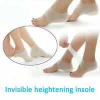 Unisex Invisible Height Lift Heel Pad Sock Liners Increase Shoe Gel Insole New