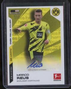 2020-21 Topps Match Attax Bundesliga Soccer MARCO REUS Auto /10 BVB Heroes JL30