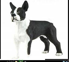 Boston Terrier Dog Figurine Black And White Pet Safari Ltd Toy Animal New .