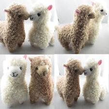 AU 2PCS Cute Alpaca Llama Plush Toy Creamy White Animal Children kids Doll 23cm