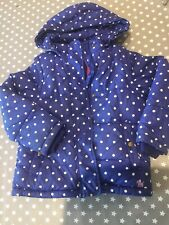 Mini Boden girls coat/gilet age 6-7 years Blue Warm Padded Hood