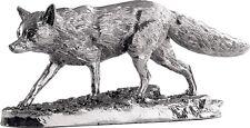 Hallmarked anglais argenté modèle fox statue figure (neuf)