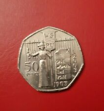 Rare Suffragette 50p 100 Years Give Women The Vote Fifty Pence 2003