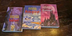 Bücher  Sammlung ▪︎ALAN DEAN FOSTER ▪︎Beutejagd▪︎Safari▪︎Kriegsrat