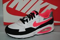 NIKE AIR MAX ST (GS) GIRLS SHOE, WH/HYPER PUNCH-BLK-WHITE, SIZE 5.5,  653819 101