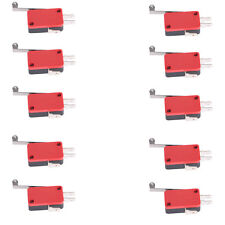 10pcs Long Handle Micro Roller Lever Arm Normally Open Close Limit Switch KW7-2