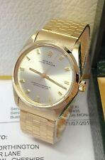Rolex Oyster Perpetual 34mm 1002 Yellow Gold - Serviced by Rolex!