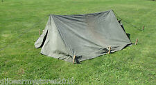 British Army 2 Man Bivvy Canvas Pup Tent Festival Camping Fishing MOD Military