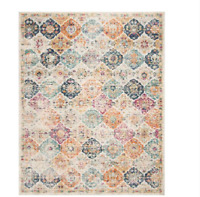 Madison Cream/Multi 9 ft. x 12 ft. Area Rug Distressed Safavieh Binding Price