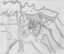 CRIMEAN WAR/UKRAINE. Plan of the attack on the Malakhov, 1855 map