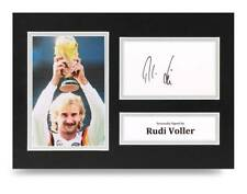 Rudi Voller Signed A4 Photo Display Germany World Cup Autograph Memorabilia COA