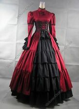 Victorian Gothic Corset Dress Steampunk Theater Reenactment Clothing N 068 M