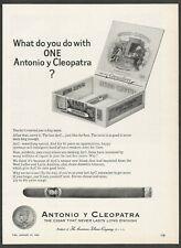 ANTONIO y CLEOPATRA cigars by the American Tobacco Company-1965 Vintage Print Ad