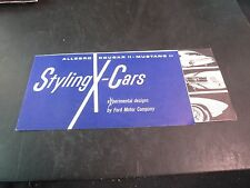 1965 FORD STYLING X-CARS SALES BROCHURE. MUSTANG II, COUGAR II AND ALLEGRO