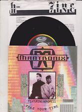 """Mantronix - Take Your Time     7"""" Single    ( mint )"""