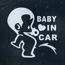 Baby Pissing On Board In The Car Car Decal Vinyl Sticker For Window Bumper Panel