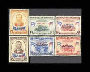 Honduras, SC #C325-30, MNH, 1964, JFK, Kennedy Ovp't, Cpl Set, FRTI-A
