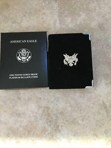 1997-W US Mint 1/10 oz Proof Platinum Eagle Coin Complete Original Set