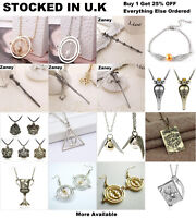 Harry Potter Jewellery Wand Time Turner Voldemort Dumbledore Hogwarts Necklace