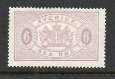 Sweden 1874 Official 6 öre.Perf 14.MH.Very Fine