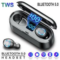 Bluetooth v5 LCD Headset Mini TWS Wireless Earphones Earbuds Stereo Headphones Y