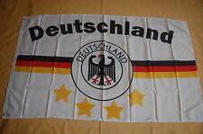Deutschland Fußball weiß 4 Sterne Fan Flagge Fahne 90 x 150 cm