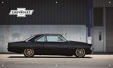 Gray 1967 Nova Ii 3'X5' Vinyl Banner Garage American Muscle Chevrolet Man Cave