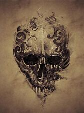 PAINTING DRAWING TATTOO CREEPY SKULL GOTHIC GRUNGE ART PRINT POSTER MP3851A