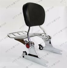 Backrest Sissy Bar Luggage Rack Harley Davidson Softail Deluxe 2005 UP Chrome