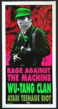 MINT & SIGNED Rage Against The Machine Wu-Tang Clan 1997 TAZ Poster 346/400