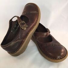 Dr Martens Ladies Brown Leather Mary Janes 3A62 Cushion Sole Shoes 5 M US 4 UK