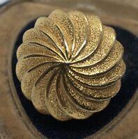 Vintage Fashion Ring  Mid Century Modern Size 6 Gold Tone
