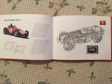 Ferrari Formula 1 Official Stamp Set Leather Bound Book 2002 Issued