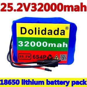 24V 32Ah 6s4p 18K650 Battery Lithiun Battery 25.2v 32000mAh Electric Bicycle