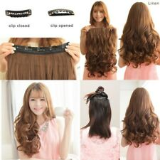 Best Extensiones De Cabello Natural 1-PCK 3/4 Full Wave Clips Para Mujer New USA