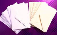 C6 / A6  Envelopes 100gsm Gummed For Wedding Invitations Cards Craft 114 x 162mm