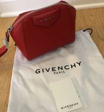 Givenchy Antigona Red Leather Wristlet Bag