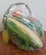 NOS VTG Reliance Fabulous Fakes Vegetable Kitchen Table Decor Basket Centerpiece