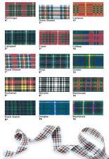 Tartan Ribbon by Berisfords 16 Approved Scottish Tartans Widths 25mm 40mm 70mm