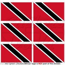 Trinidad & Tobago BANDIERA Caraibi Mobile Cellulare Mini Adesivi, Decalcomanie x6