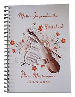 Gästebuch Fotobuch Jugendweihe Jugendfeier Geschenk Einladung Karte Deko - Musik