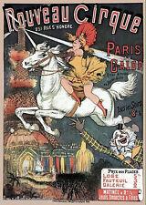 Vintage Circus Art - Noveau Cirque Paris ACEO Print