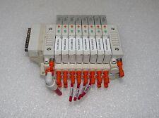 SMC SV1200R-5FU VALVES ON SS5V1-F1N026 MANIFOLD BLOCK